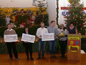 """Neujahrsempfang und Spendenübergabe der """"Aktion Adventsfenster in Dellfeld"""""""